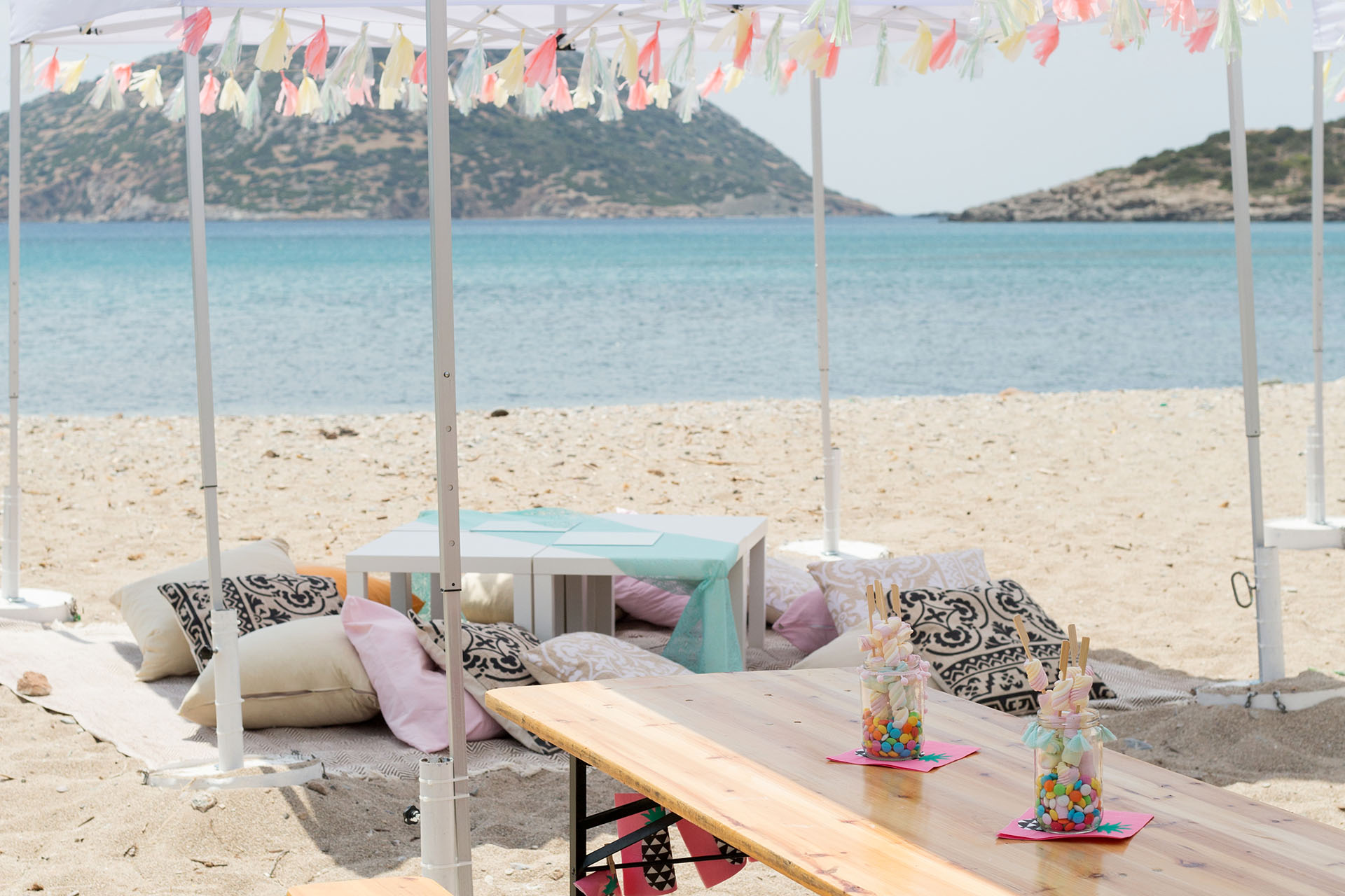 A Festival-inspired Christening Party on the Beach